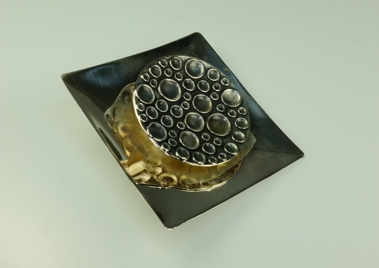 alte silberbrosche anstecknadel 1963 kultasepp salovaara skandinavisches design ebay. Black Bedroom Furniture Sets. Home Design Ideas