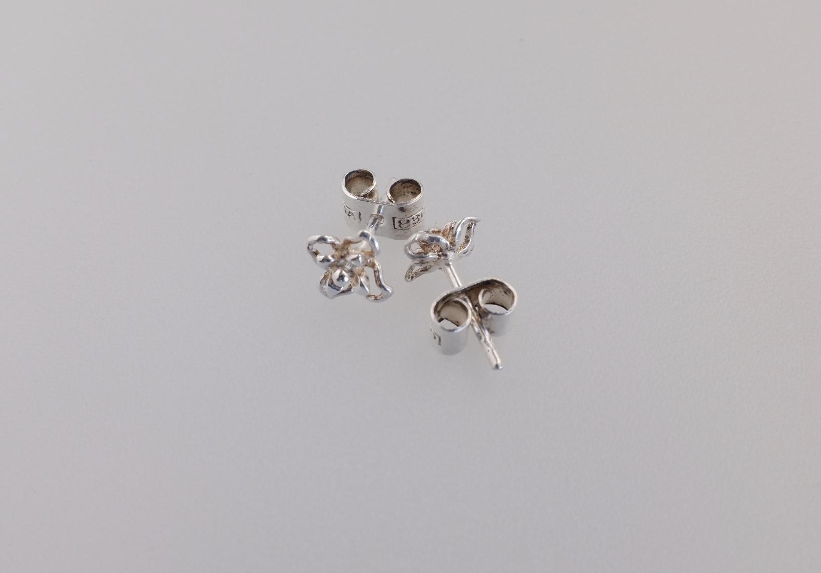 Alte Silber Ohrstecker Skandinavien Finnland Silberschmuck