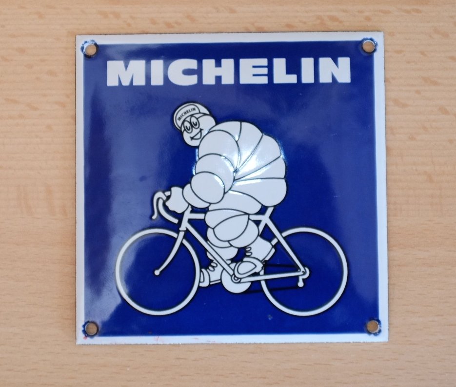 sch nes blechschild emailschild michelin michelin m nnchen. Black Bedroom Furniture Sets. Home Design Ideas